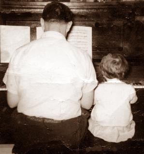 Baby Lynn at piano