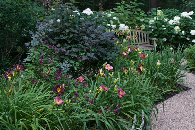Plum and Pewter garden