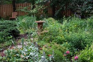 Herb circle garden